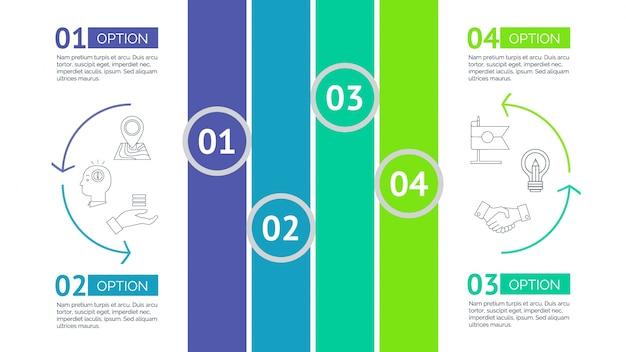 Múltiplas opções de design infográfico