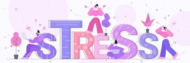 Multitarefa empresários cansados ocupados empresários sobrecarregados raiva agressão estresse depressão colapso nervoso estresse