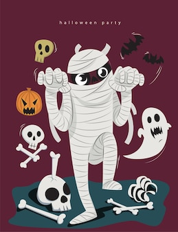 Múmia de halloween