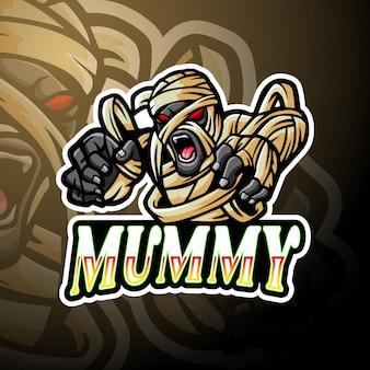 Múmia esport logotipo mascote design