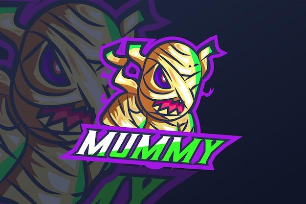 Múmia - modelo de logotipo esport
