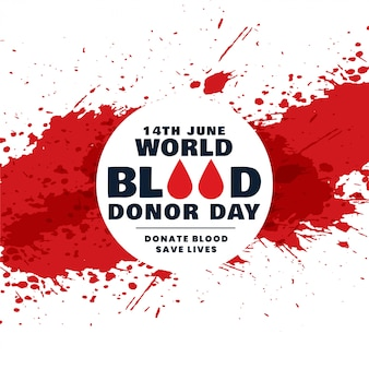Mundo abstrato doador de sangue dia conceito fundo