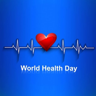 Mundo bonito cartão dia da saúde