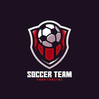 Mundo da bola do gol do time de futebol