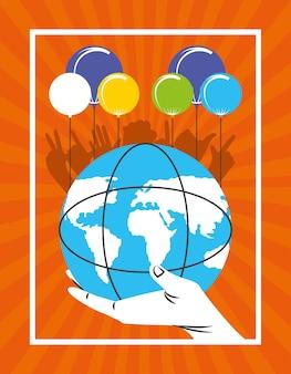 Mundo de celebração de canhotos