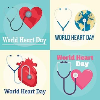 Mundo do dia mundial do coração