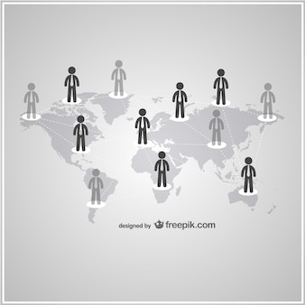 Mundo dos negócios de conexão pessoas vetor