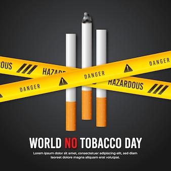 Mundo gradiente sem ilustração do dia do tabaco