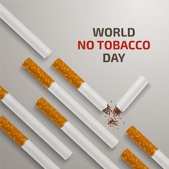 Mundo realista sem ilustração do dia do tabaco