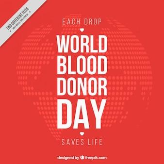 Mundo red doador de sangue fundo do dia