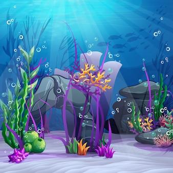 Mundo subaquático colorido