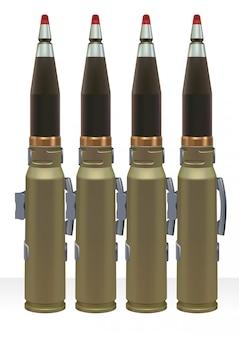 Munição de grande calibre para pistola automática.