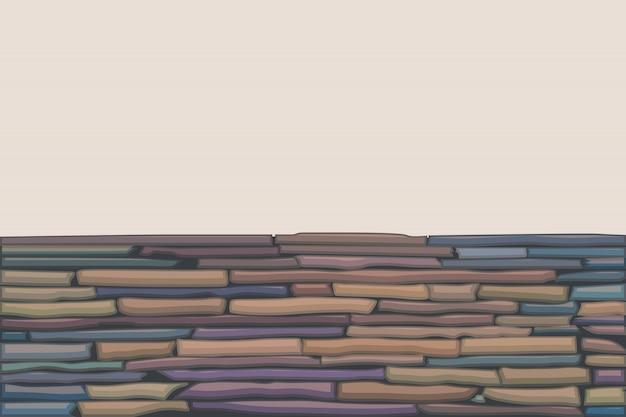 Muro de pedra colorido