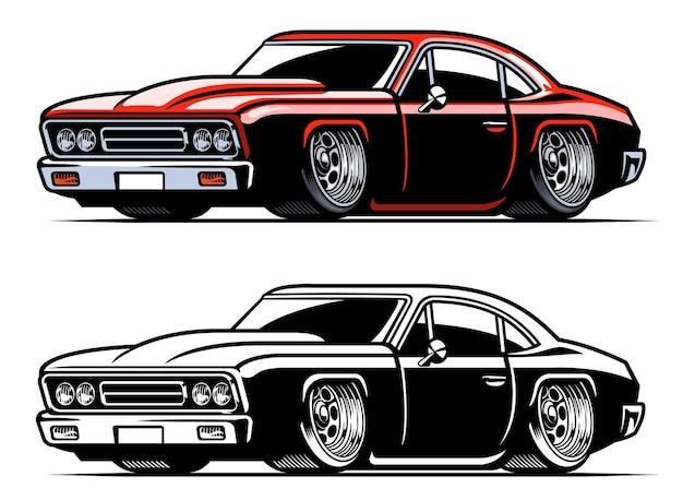 Muscle car americano vintage