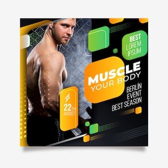Músculo seu panfleto de esporte do corpo
