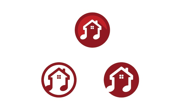 Music house icon / design de logotipo