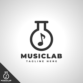 Music lab - music studio ou logotipo da music eduction