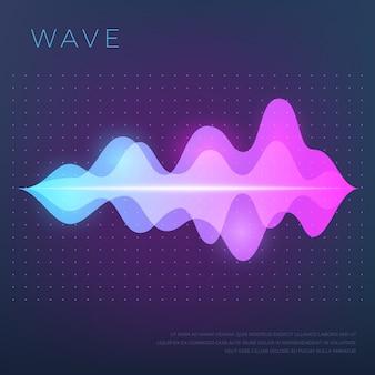 Música abstrata com som de áudio, onda e equalizador