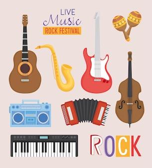 Música ao vivo em festival de rock
