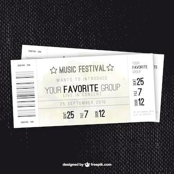 Música bilhete festival