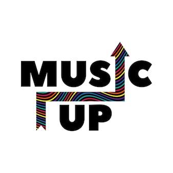 Música criativa com letras tipográficas