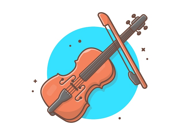 Música de ícone de violoncelo. concerto de jazz de violino. melodia da música branco isolado
