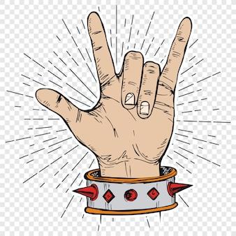 Música do rock and roll do sinal da mão