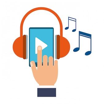 Música e smartphone