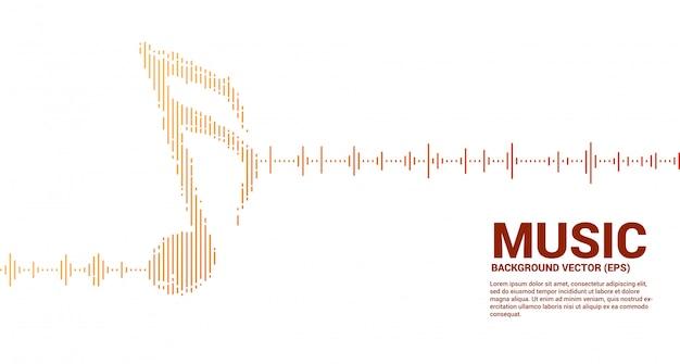 Música e som tecnologia conceito. equalizador onda como nota musical