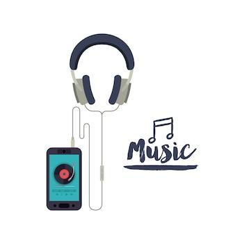Música em design de linha