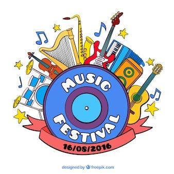 Música festival ilustração