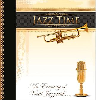Música jazz, fundo
