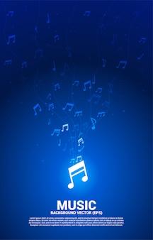 Música melodia nota dança fluxo modelo vertical