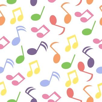 Música, notas, padrão, fundo