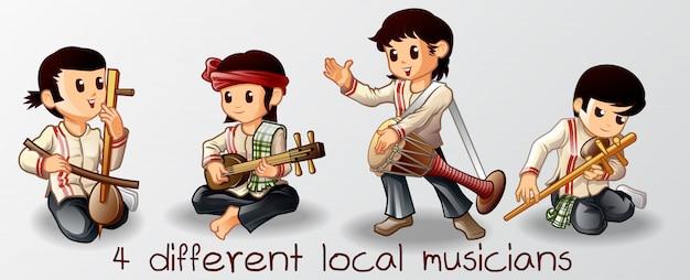 Músicos locais.
