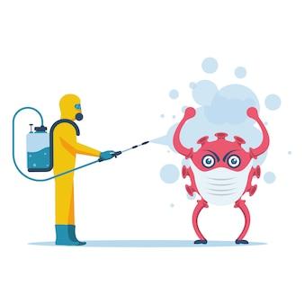 Mutação de vírus. o coronavírus é resistente ao saneamento desinfetante.