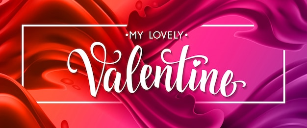 My lovely valentine lettering no quadro