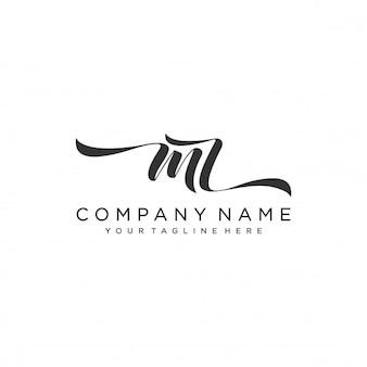 Mz inicial logotipo modelo vector design