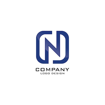 N carta empresa comercial logo design