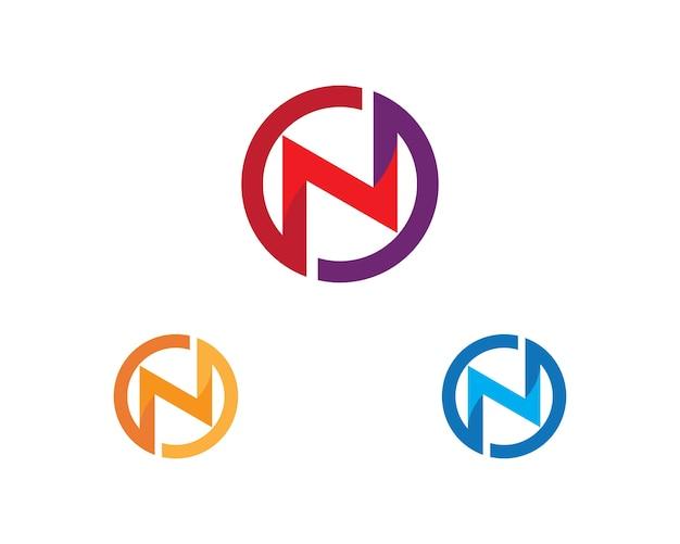 N letter logo business template vetor ícone