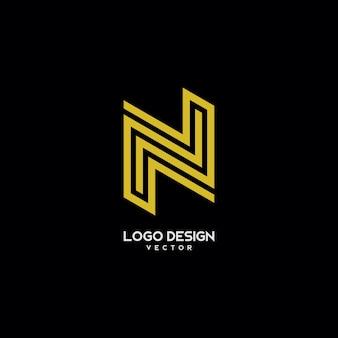 N line art logo design