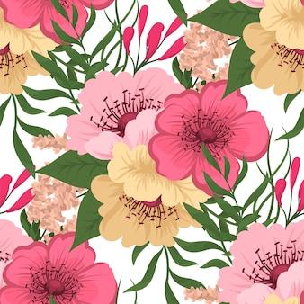 Na moda padrão Floral sem emenda em ilustração vetorial