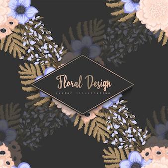 Na moda sem costura padrão floral
