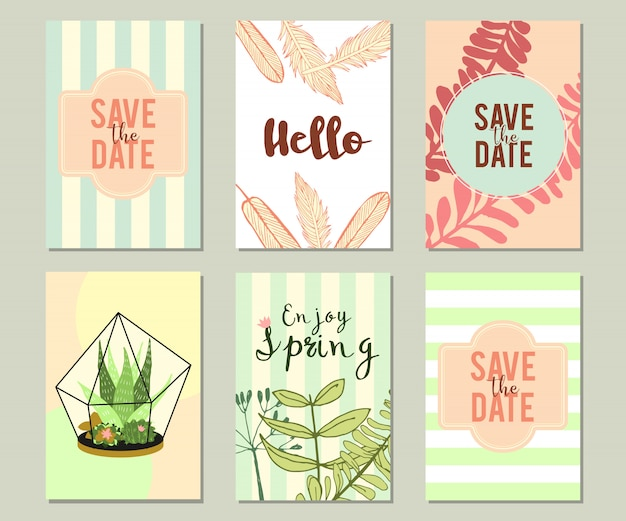 Na moda verão tropical ou floral banner set