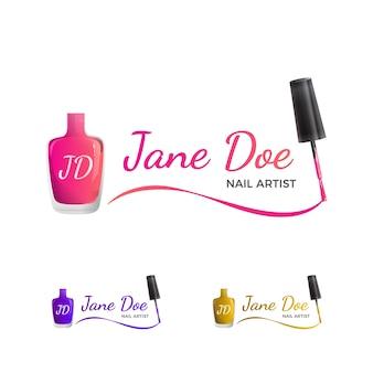 Nail art logo