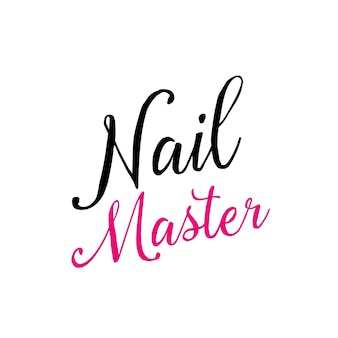 Nail master calligraphic inscription