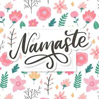 Namastê desenhado de mão. olá em hindi. mão desenhada letras, caligrafia escova moderna.