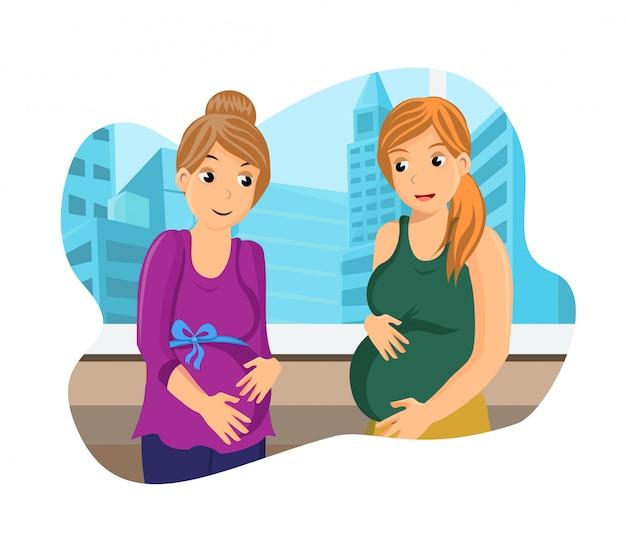 Namoradas discutindo gravidez
