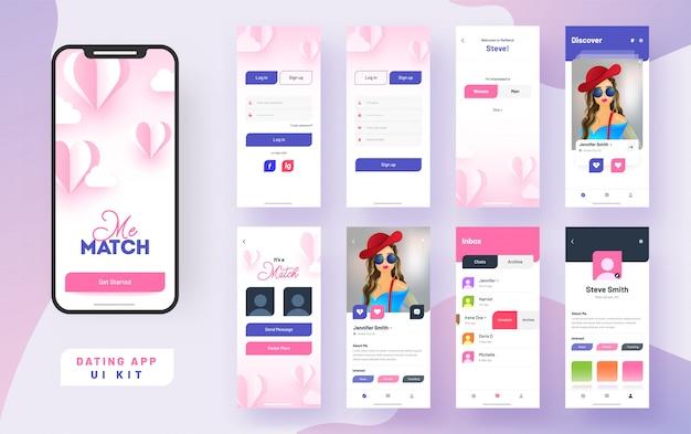 Namoro aplicativo aplicativo móvel ui.
