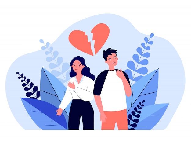 Namoro casal tendo conflito